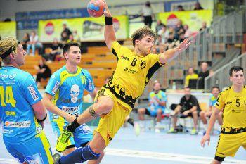 Lukas Frühstück und die Bregenzer Handballer wollen mit einem Sieg in die neue Saison starten.Foto: Rainer Ibele