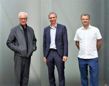 Peter Fischli mit Thomas D. Trummer und Stefan Wagner.