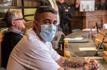 Rapper Bushido im Gerichtssaal. Foto: AFP