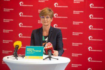 Sabine Tichy-Treimel (GF Messe Dornbirn) bei der Pressekonferenz vergangene Woche.Foto: VN