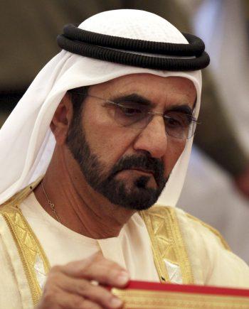 Scheich Mohammed bin Raschid Al Maktum verkündet gestern die Pläne zur Mondlandung.Foto: AP
