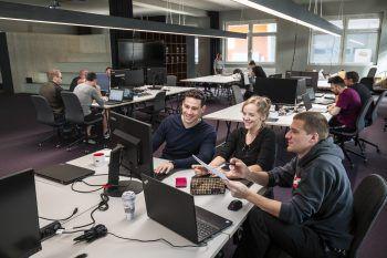 Wer sich für eine digitale Ausbildung interessiert, der ist am Digital Campus Vorarlberg genau richtig!Fotos: handout/Studio Fasching