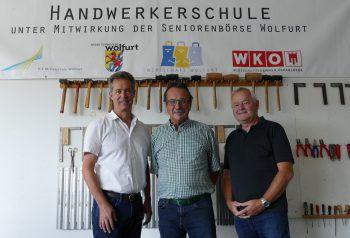 """<p class=""""caption"""">Zehn Jahre Handwerkerschule: Mittelschuldirektor Norbert Moosbrugger, KR</p><p class=""""caption"""">Walter Eberle und Kurt Weber (Obmann Seniorenbörse). Fotos: handout/WAM</p>"""