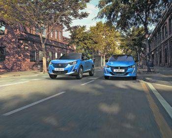 Französisches Fahrvergnügen: Der SUV Peugeot e-2008 ist ein echter Eyecatcher auf der Straße.Fotos: handout/Peugeot