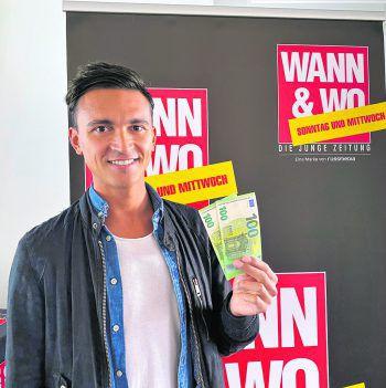 """Michael ist der erste Gewinner des von ImmoAgentur und WANN & WO präsentierten Gewinnspiels """"WANN & WOhngeld"""" in diesem Jahr. Der 27-Jährige findet in seiner neuen Wohnung Verwendung für das Geld. Fotos: W&W"""