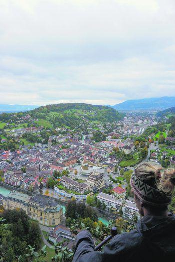 """""""Above the City""""             """"Bei einem Spaziergang durch Feldkirch darf ein Abstecher zum Aussichtspunkt beim buddhistischen Kloster nicht fehlen. Von hier aus sieht man, wie schön Feldkirch doch ist."""""""