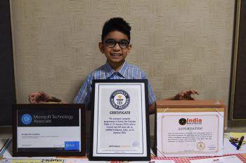 """<p>Ahmedabad. Rekord: Der indische Junge Arham Om Talsania ist laut """"Guiness Buch der Rekorde"""" mit sieben Jahren der jüngste Programmierer der Welt.</p>"""