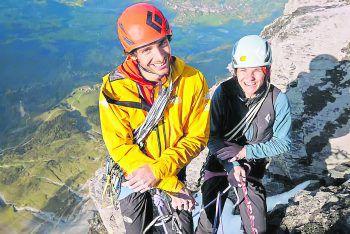 Babsi Zangerl liebt es, mit ihrem Partner Abenteuer zu erleben.Foto: Johannes Mair/Alpsolut Pictures