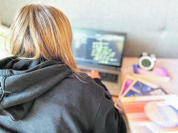 """Die moderne Technik ermöglicht ein bequemes """"Homeschooling"""".Foto: Fritsche"""