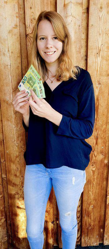 Die nächsten 200 Euro gehen an Jasmin aus Dornbirn.