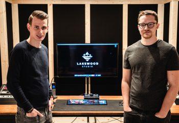 Dominic Egger mit seinem Geschäftspartner Leo Seewald. Foto: handout/privat