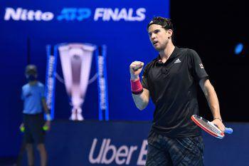 Dominic Thiem setzte sich gestern gegen Novak Djokovic in drei Sätzen durch.Foto: AFP