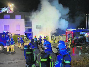 Vor Ort waren die Feuerwehren Hard, Bregenz-Rieden und Höchst im Einsatz. Foto: VN