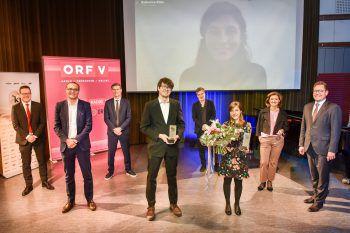 Amos Postner erhält den mit 10.000 Euro dotierten Hauptpreis.Foto: ORF