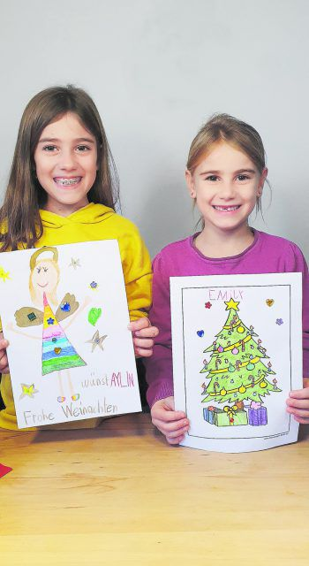 Aylin und Emily haben schon eine Zeichnung gemalt – schick auch du uns dein Bild und gewinn Gutscheine von Behmann!Fotos: W&W; handout/Behmann