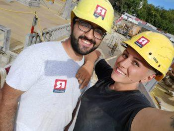 """""""Born to have Fun"""": Auf der Baustelle kommt der Spaß nie zu kurz.Foto: handout/Rhomberg"""