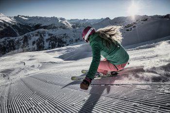 Da schlagen die Skifahrerherzen höher: Die neue Talabfahrt Gaschurn eröffnet pünktlich zu Weihnachten.Fotos: Nova Exklusiv