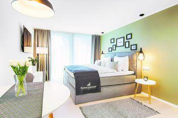 Das Business-Hotel Maier zeigt sich in schnörkelloser Eleganz.Foto: handout/ImmoAgentur