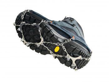 """Die Schuhketten von """"Chainsain Pro"""" bieten einen perfekten Grip auf Schnee und hohe Sicherheit auf Eis. Sie sind in Sekundenschnelle an- und ausgezogen! Preis: 49,99 Euro."""