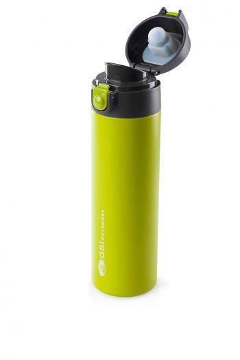 """<p class=""""caption"""">Diese elegante, hochklassige Vacuum Flasche von """"GSI"""" hält Getränke stundenlang heiß oder kalt. Preis: 32,99 Euro.</p>"""