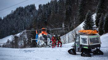 Im Einsatz waren unter anderem auch die Rettungshubschrauber Gallus 1 (Bild) und Christophorus 8, sowie der Hubschrauber der Bundespolizei. Symbolfoto: Russmedia/NiederWolfsGruber