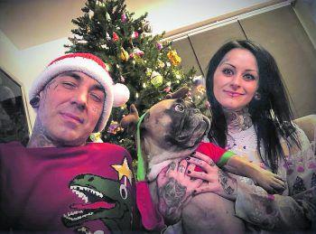 """Mike und Kristina Geringer von """"Herzblut Tattoo"""" hoffen, im neuen Jahr endlich wieder uneingeschränkt arbeiten zu können. Fotos: handout/Geringer, handout/Aberer"""
