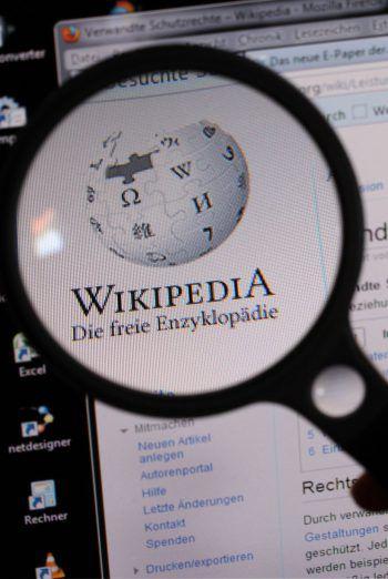 Wikipedia feiert Geburtstag. Foto: dpa