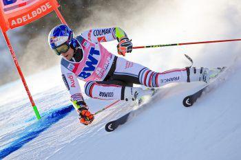 Der Franzose Alexis Pinturault ließ die Konkurrenz gestern hinter sich. Heute steht in Adelboden noch ein Slalom auf dem Programm (ab 10.30 Uhr/live auf ORF 1). Foto: GEPA