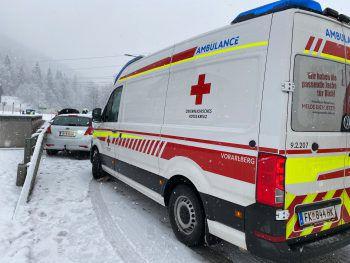 Rettungswagen im Einsatz. Symbolfoto: VOL.at