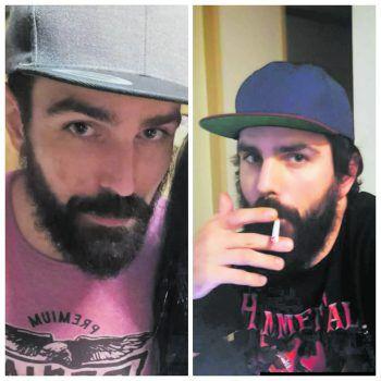 Mit diesen beiden Fotos wirdinternational nach Jürgen gesucht. Er könnte aber inzwischen auch Frisur und Bart verändert haben. Foto: handout/privat