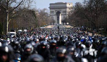 """<p>Paris. Protest: Die """"Federation of Angry Bikers"""" fordert eine Änderung der Verkehrsregeln für Motorradfahrer.</p>"""