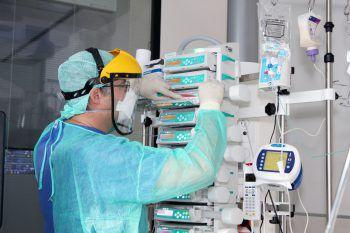Zwölf Covid-Patienten werden aktuell intensivmedizinisch betreut.Foto: KHBG