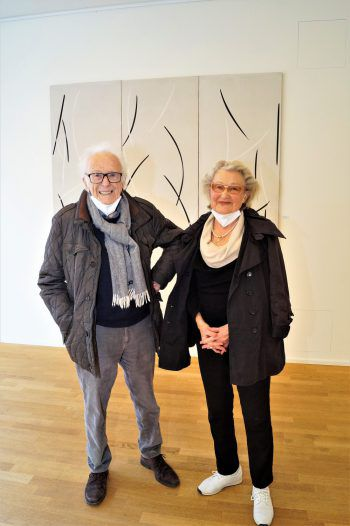 """<p class=""""caption"""">Als Gäste kamen Bildhauer Herbert Albrecht und Ehefrau Brigitte.</p>"""