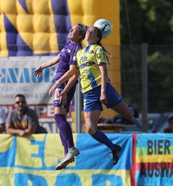 Das Fußball-Talent in Aktion.