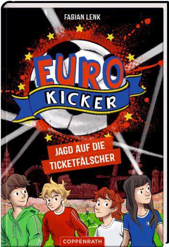 """<p class=""""title"""">               Euro-Kicker             </p><p>München im EM-Fieber! Die Freunde Paco, Alex, Raya und Nelli sind mittendrin: Als Euro-Kicker nehmen sie nicht nur am Jugendfußballcamp teil – Paco und Nelli dürfen sogar mit den Stars zum Viertelfinalspiel einlaufen, während Alex und Raya ihnen von der Tribüne aus zujubeln werden. Doch dann der große Schock: Alex Ticket zu dem Spitzenspiel ist gefaked! Die Freunde beschließen, den skrupellosen Fälschern eine Falle zu stellen, und haben bald eine heiße Spur. Preis: 10,30 Euro, ab 8 Jahre.</p>"""