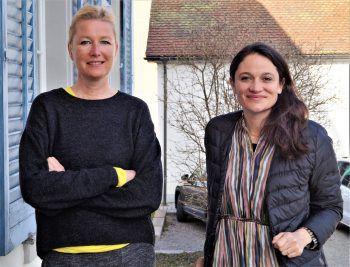 "<p class=""caption"">Irma Gerstenmayer (Koordinatorin Künstlerhaus) und Maria Simma (Präsidentin).</p>"