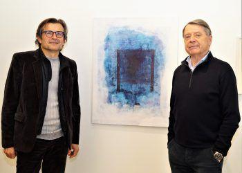 """<p class=""""caption"""">Künstler Marbod Fritsch und Galerist Herbert Alber.</p>"""