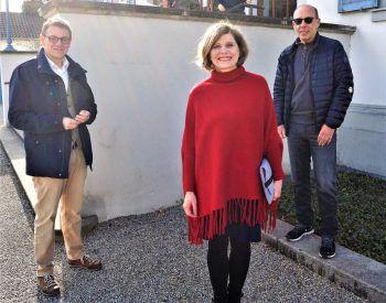 """<p class=""""caption"""">LAbg. Christoph Thoma, Landesstatthalterin Barbara Schöbi-Fink und Stadtrat Michael Rauth.</p>"""