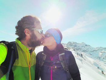 """<p class=""""caption"""">Michael mit seiner Freundin Birgit im schönen Montafon.</p>"""