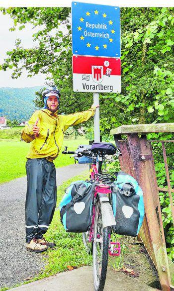 Nach 45 Tagen und 3350 zurückgelegten Kilometern erreichte Peter Brotzge aus Rankweil schließlich wieder die Vorarlberger Heimat. Fotos: handout/privat Brotzge/YouTube