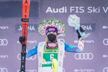 Shiffrin feierte gestern ihren bereits 69. Weltcup-Sieg. Fotos: GEPA