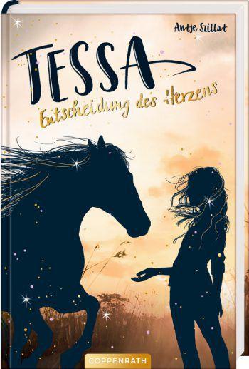 """<p class=""""title"""">               Tessa: Entscheidung des Herzens             </p><p>In Tessas Leben dreht sich alles ums Reiten. Und so bricht für sie eine Welt zusammen, als ihr geliebtes Pony bei einem Ausritt schwer verletzt wird. Durch Zufall trifft sie jedoch auf die junge Hannoveraner Stute Ronja. Tessa ist wie gebannt von diesem anmutigen, aber auch scheuen Pferd. Wird sie es schaffen, Ronjas Vertrauen zu gewinnen und die Stute zum Dressurpferd zu trainieren? Preis: 11,40 Euro, ab 10 Jahre.</p>"""