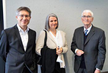 """<p class=""""caption"""">Die Eltern des Dirigenten Birgit und Eike Grabher, Gerhard Netzer.</p>"""