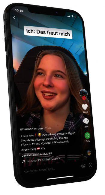 """Die junge Influencerin sammelt oftmals Inspirationen auf ihrer """"For You Page"""" auf TikTok, oder wird selbst mit ihren Schwestern für neuen Content kreativ. Hannah möchte ihre Social-Media-Präsenz zudem noch weiter ausbauen. Fotos: handout/Wrann"""