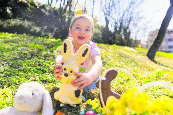 Die vierjährige Mila aus Hörbranz wünscht allen W&W-Lesern frohe Ostern!Fotos: Sams, handout/privat