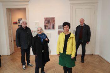 Norbert Leo Müller, Ursula Dorigo, Birgit Konzett und Präsident Hermann Präg.