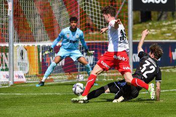 Seit dem Westderby gegen Wacker Innsbruck am 26. Oktober gestern erstmals wieder vor Fans. Trotzdem gab es gegen die Juniors OÖ nichts zu holen. Foto: GEPA pictures/ Oliver Lerch