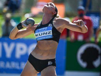 Annie Kunz (USA) führt im Siebenkampf der Damen nach Tag eins. Fotos: Stiplovsek, GEPA/Lerch
