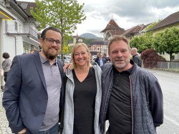 "<p class=""caption"">Bernd Wehinger, Tanja Gayde und Valentin ""Valle"" Sottopietra.</p>"
