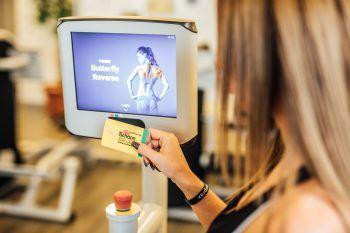 Chipkarte für das TrainingAlle persönlichen Einstellungen für das Gerät sind gespeichert und los geht's mit dem Training.